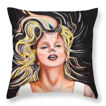 Candle In The Wind Throw Pillow by Dean Glorso