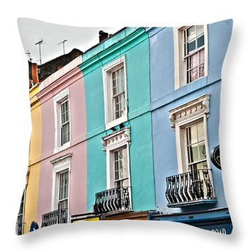 Candy Houses Throw Pillow by Georgia Fowler