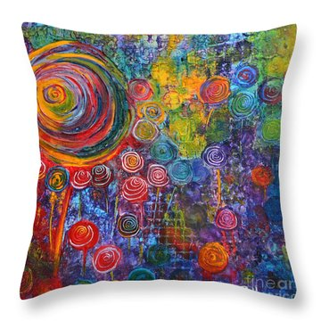 Candyland Throw Pillow by Claire Bull
