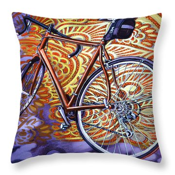 Cannondale Throw Pillow by Mark Howard Jones