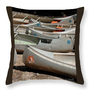 Canoes 143 Throw Pillow by Gary Gingrich Galleries