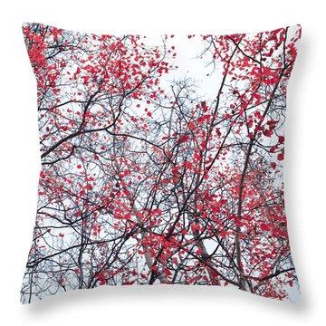 Canopy Trees Throw Pillow by Priska Wettstein