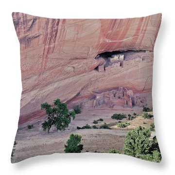 Canyon De Chelly Junction Ruins Throw Pillow by Christine Till