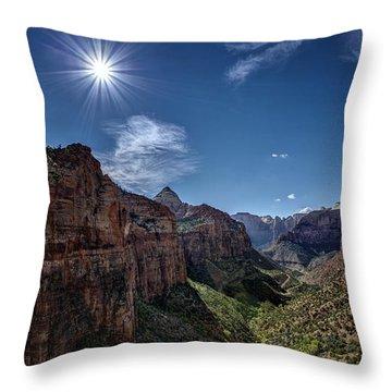 Canyon Overlook Throw Pillow by Jeff Burton
