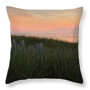 Cape Cod Bay Sunset Square Throw Pillow by Bill Wakeley