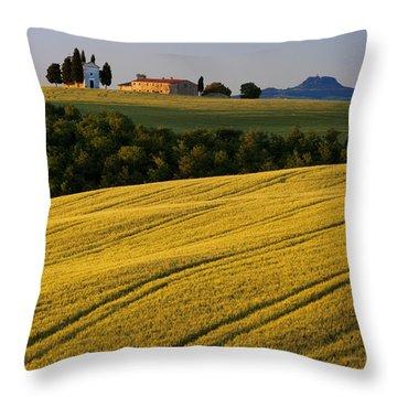 Cappelle Di Vitaleta Throw Pillow by Brian Jannsen