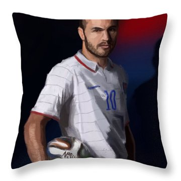 Captain America Throw Pillow by Jeremy Nash