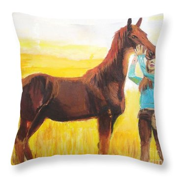 Captive Audience Throw Pillow by Judy Kay