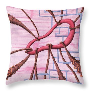 Captured Throw Pillow by Kevin Trow