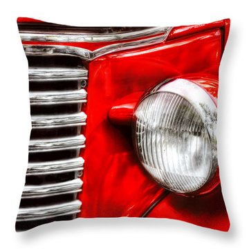Car - Chevrolet Throw Pillow by Mike Savad