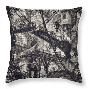 Carceri Vii Throw Pillow by Giovanni Battista Piranesi