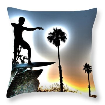Cardiff Kook Throw Pillow by Ann Patterson