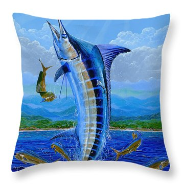 Caribbean Blue Off0041 Throw Pillow by Carey Chen