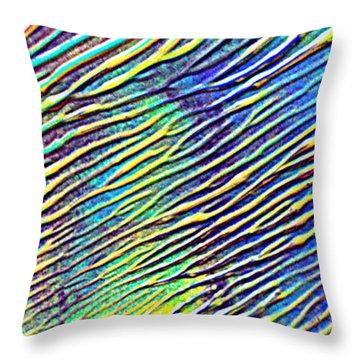 caribbean waves Acryl blurred vision Throw Pillow by Sir Josef Social Critic - ART