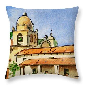 Carmel By The Sea - California Sketchbook Project  Throw Pillow by Irina Sztukowski