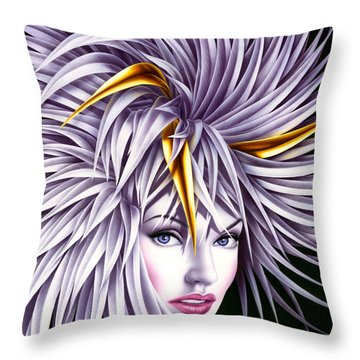 Carnival Gold Throw Pillow by Andrew Farley