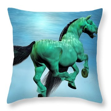 Carousel Iv Throw Pillow by Betsy Knapp