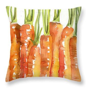 Carrot Bunch Art Blenda Studio Throw Pillow by Blenda Studio