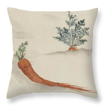 Carrots Throw Pillow by Aged Pixel
