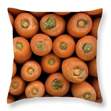 Carrots Throw Pillow by Rick Piper Photography