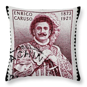 Caruso Throw Pillow by Andy Prendy