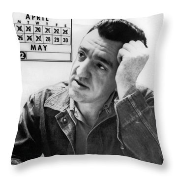 Caryl Chessman Throw Pillow by Underwood Archives