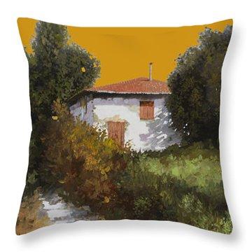 Casa Al Tramonto Throw Pillow by Guido Borelli