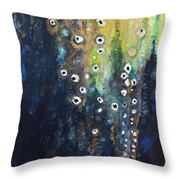 Cascading Colors II Throw Pillow by Tara Thelen