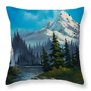 Cascading Falls Throw Pillow by C Steele