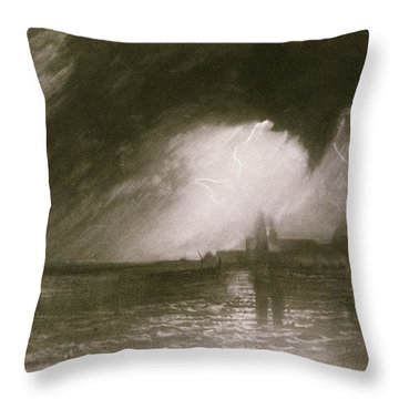 Castania Sicily Throw Pillow by Joseph Mallord William Turner
