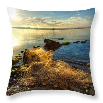Castaway Throw Pillow by Debra and Dave Vanderlaan