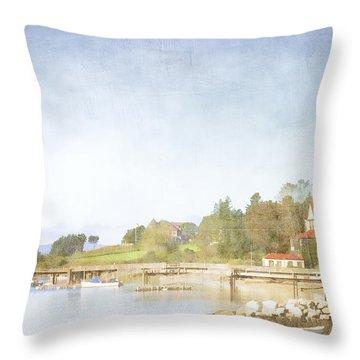 Castine Harbor Maine Throw Pillow by Carol Leigh