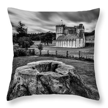 Castle Fraser Throw Pillow by Dave Bowman