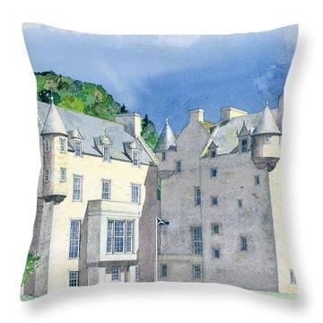 Castle Menzies Throw Pillow by David Herbert