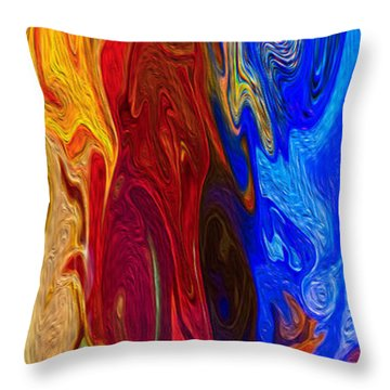 Castles Made Of Sand II Throw Pillow by Omaste Witkowski