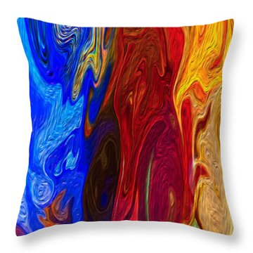 Castles Made Of Sand Throw Pillow by Omaste Witkowski