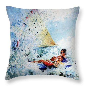 Catch The Wind Throw Pillow by Hanne Lore Koehler