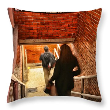 Catching The Subway Throw Pillow by Karol Livote