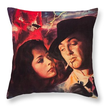 Catene Della Colpa - Out Of The Past Throw Pillow by MMG Archives