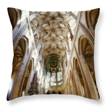 Cathedral Glow Throw Pillow by Joan Carroll
