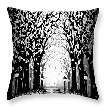 Cathedral Park Throw Pillow by Janine Riley