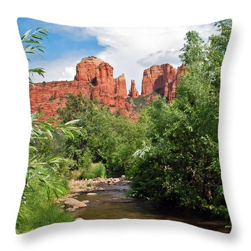 Cathedral Point - Sedona Arizona Throw Pillow by Gregory Ballos