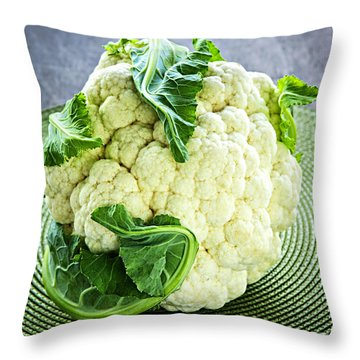 Cauliflower Throw Pillow by Elena Elisseeva