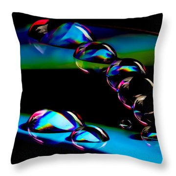 Cd Lineup Throw Pillow by Jean Noren