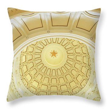 Ceiling Of The Dome Of The Texas State Throw Pillow by Panoramic Images