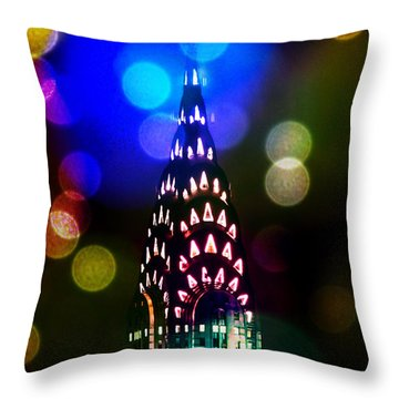 Celebrate The Night Throw Pillow by Az Jackson