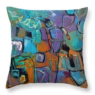 Celebration Throw Pillow by Katie Black
