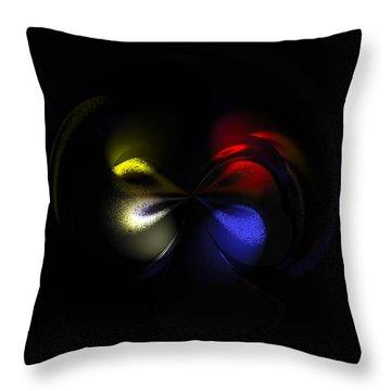 Celestial Dance Digital Art Throw Pillow by Georgeta  Blanaru