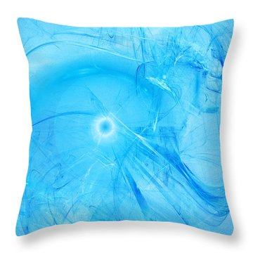 Celestial Intelligencer Throw Pillow by Jeff Iverson
