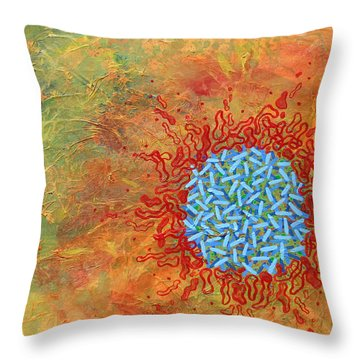 Cell No.1 Throw Pillow by Angela Canada-Hopkins